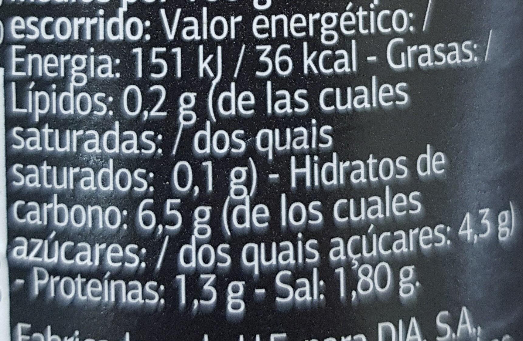 Ensalada china - Informations nutritionnelles - es