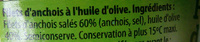 Filets d'anchois à l'huile d'olive - Ingredients - fr