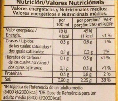 Caldo de pollo - Informations nutritionnelles