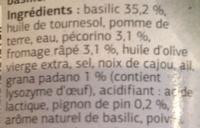 Sauce Pesto - Ingredients - fr