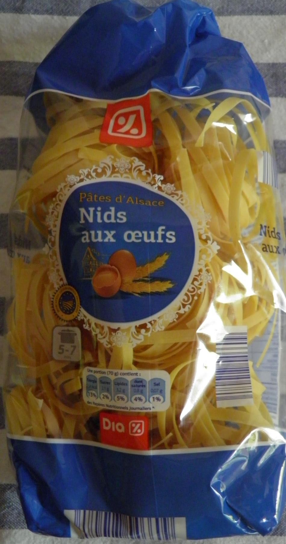 Pâtes d'Alsace Nids aux œufs - Produit