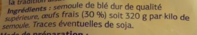 Pâtes d'Alsace Nids aux œufs - Ingrédients