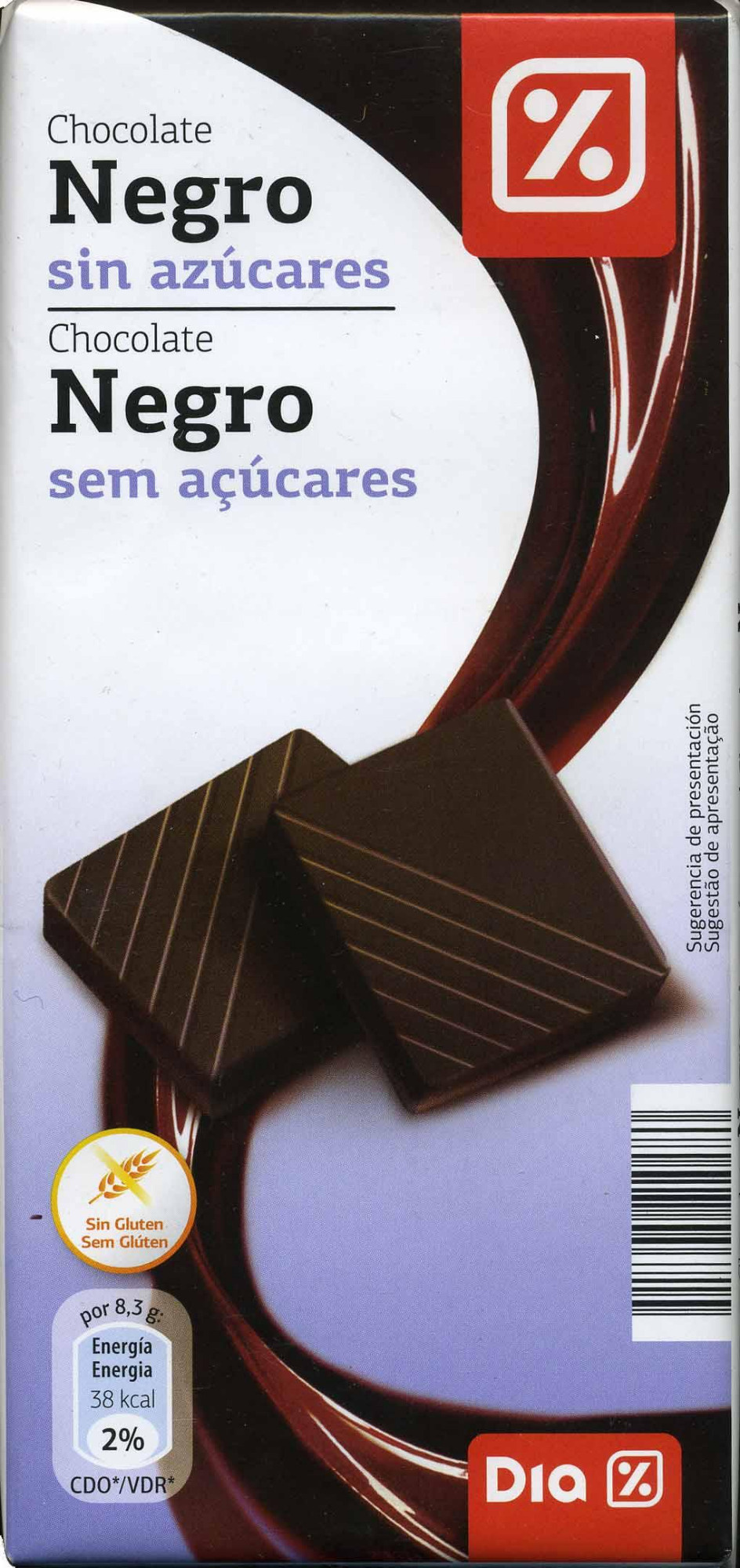 Tableta de chocolate negro sin azúcares - Product