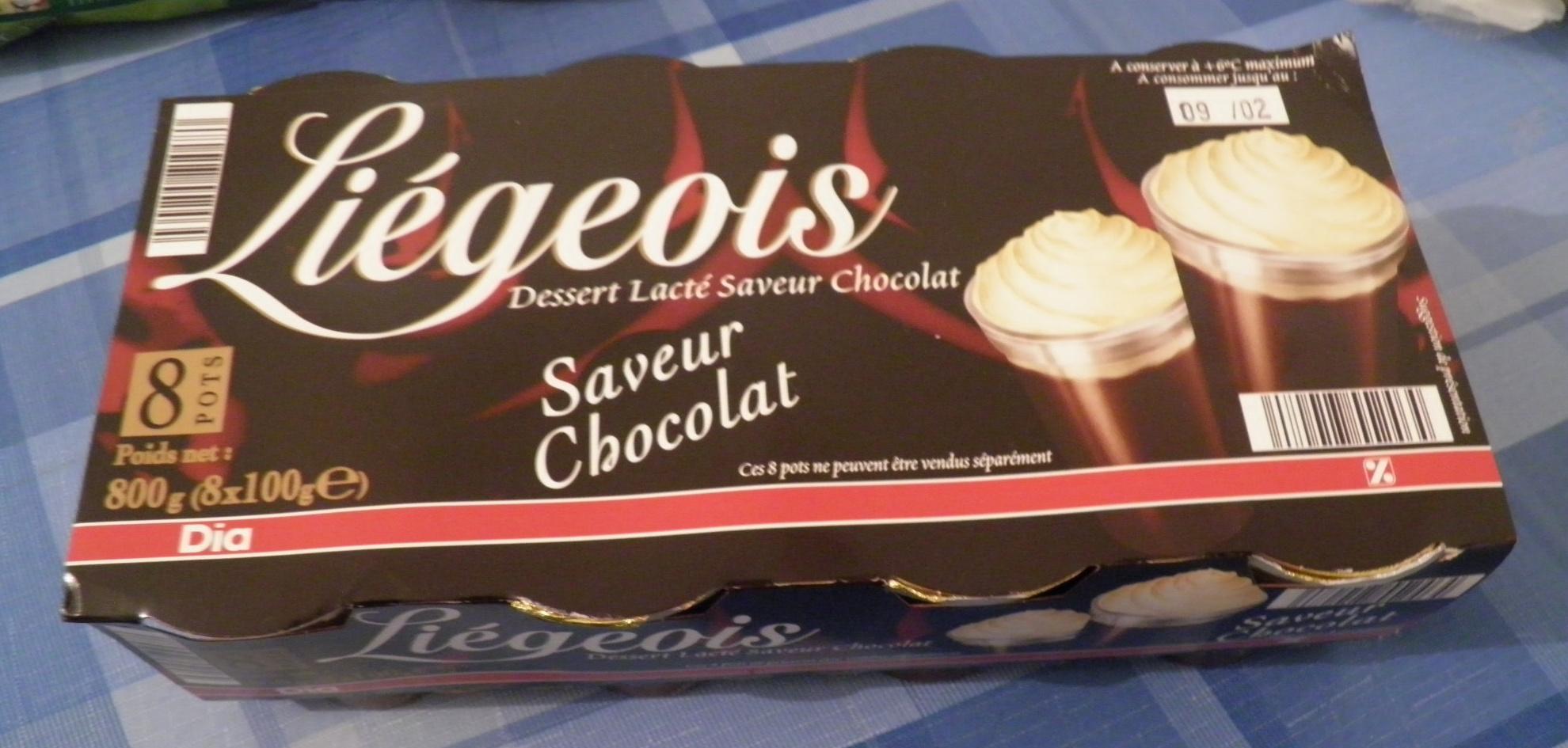 Liégeois Saveur Chocolat Dia - Produit