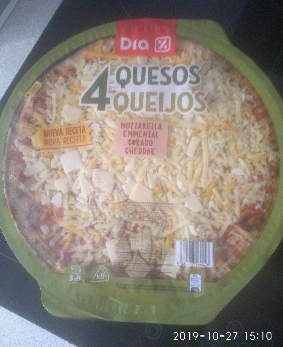 Pizza 4 quesos - Producto