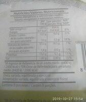 Pizza 4 quesos - Información nutricional