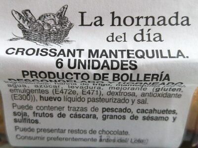 Croissant Mantequilla 6 unidas