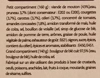 Tajine de mouton et son boulgour - Ingrediënten - fr