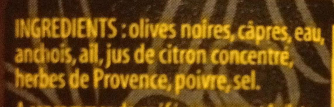 Tapenade noire - Ingrédients - fr