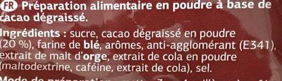 Cacao Soluble %DIA% - Ingrediënten