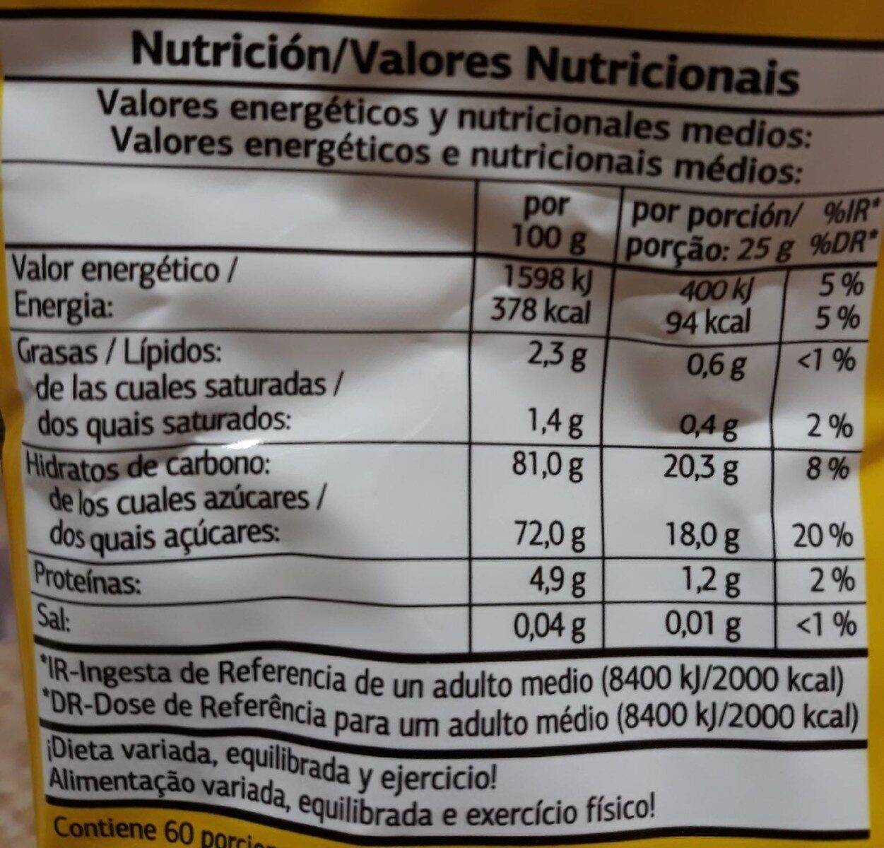 Cacao Soluble %DIA% - Voedingswaarden