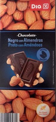 Chocolate negro con almendras - Producto