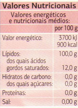 Azeite tradicional - Informations nutritionnelles - pt