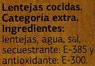 Lentejas - Ingredientes - es