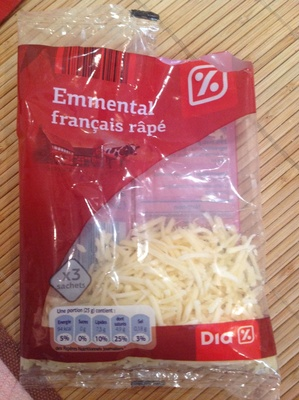 Emmental français râpé (29 % MG) - Product