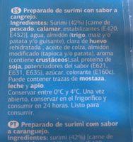 Surimi - Ingredients - fr