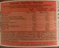 Pâte à tartiner - Valori nutrizionali - fr