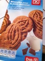 Biscuits pour le petit déjeuner au lait et aux pépites de chocolat - Product - fr