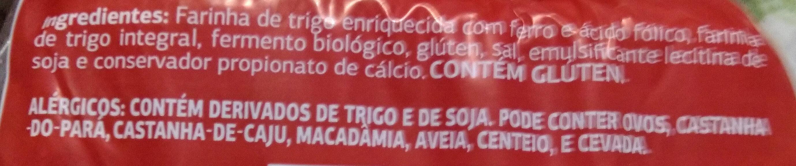 Pão integral - Ingredientes - pt