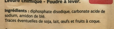 Levure chimique - Ingrediënten - fr