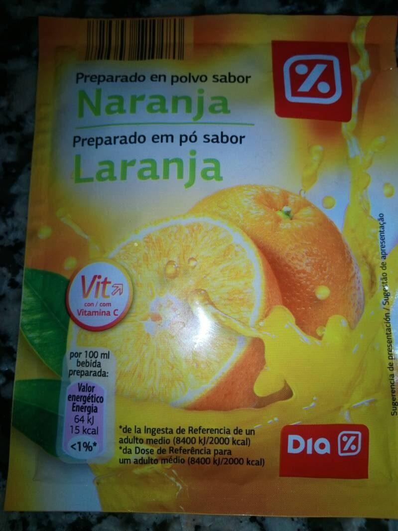 Preparado en polvo sabor naranja - Producto - es