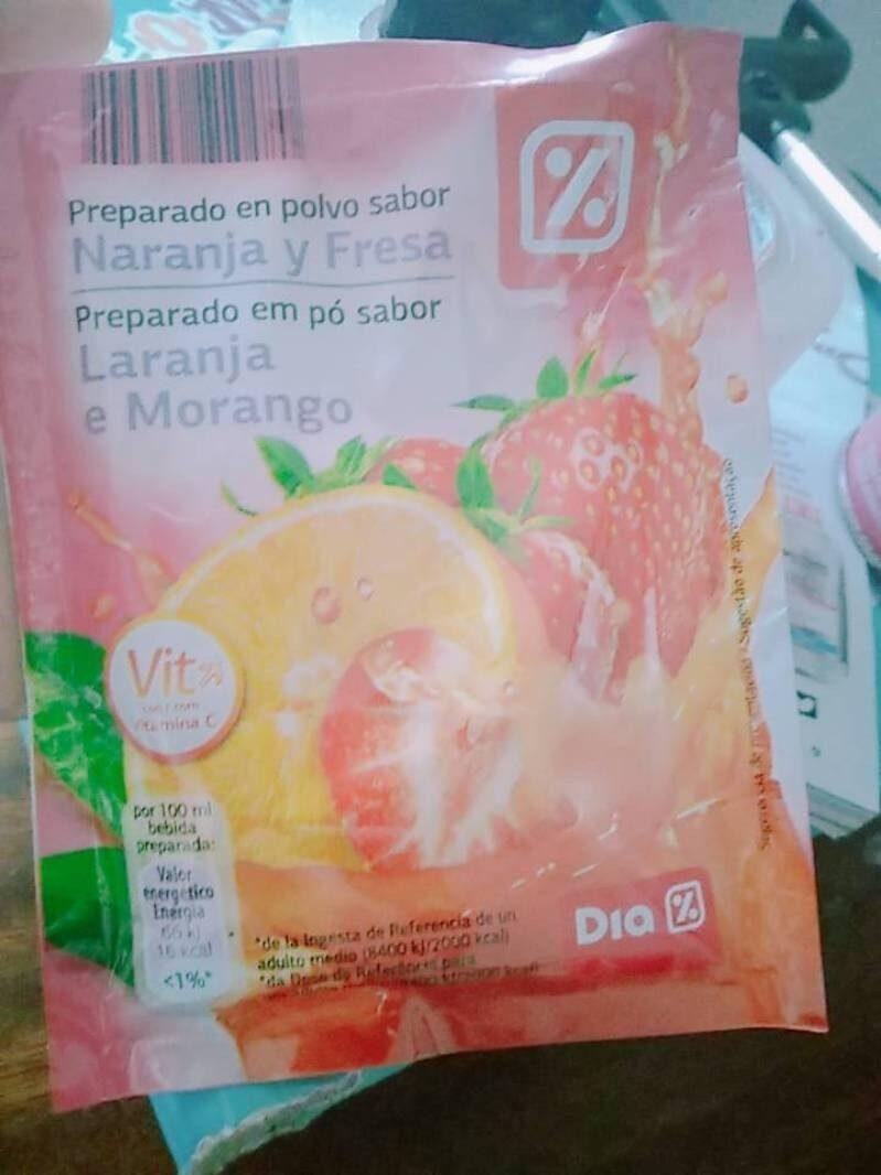 Preparado en polvo sabor Naranja y Fresa - Product