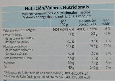 Corn Flakes - Informació nutricional - fr