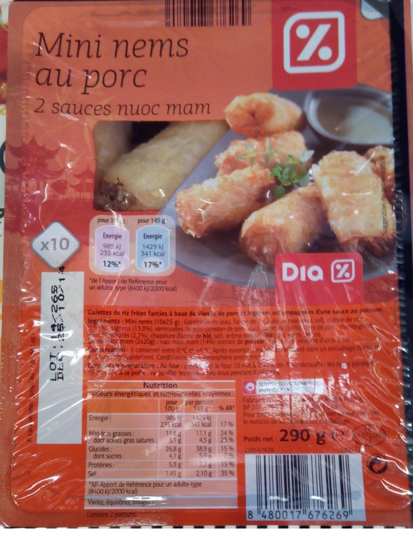 Mini nems au porc (x 10) - Produit - fr