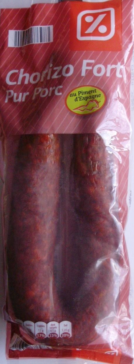 Chorizo Pur Porc (Fort) au Piment d'Espagne - Produit - fr