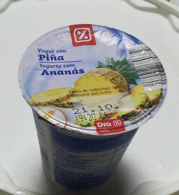 Yogur con piña