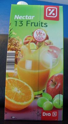 Nectar 13 fruits Dia - Product - fr