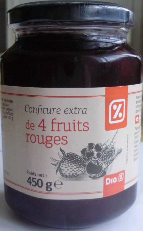 Confiture extra de 4 fruits rouges - Product