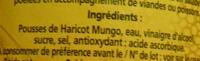 Pousses de Haricots Mungo Dia - Ingrédients - fr
