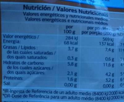 Salteado campestre - Nutrition facts