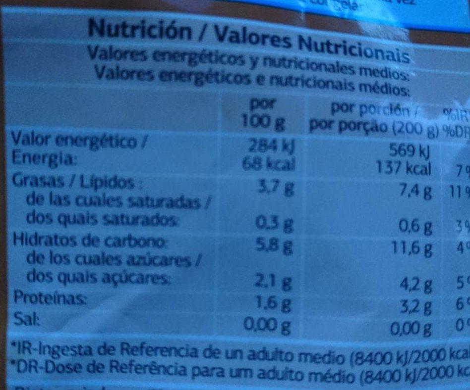 Salteado campestre - Informations nutritionnelles - es