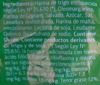 Mini cracker salvado - Ingredientes - es