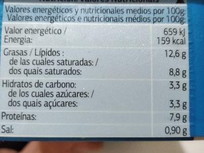Queso para untar Light - Informations nutritionnelles - es