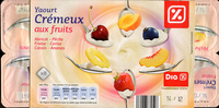 Yaourt Crémeux aux fruits (Abricot - Pêche - Fraise - Cerise - Cassis - Ananas) - Produit - fr