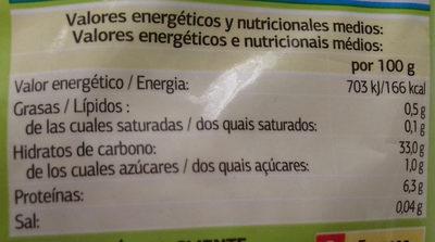 Ajo picado - Informations nutritionnelles
