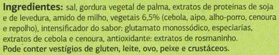 Caldo de legumes - Ingredientes