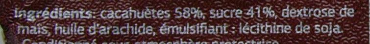 Cacahuètes caramélisées - Ingrediënten