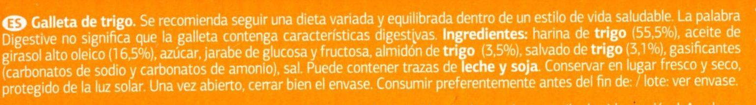 Digestive - Ingredientes