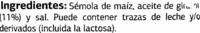 """Aperitivo de maíz """"Dia"""" """"Dianitos"""" - Ingredientes"""