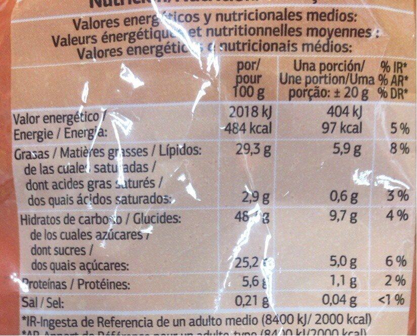 Rosquillas con azúcar - Nutrition facts - fr