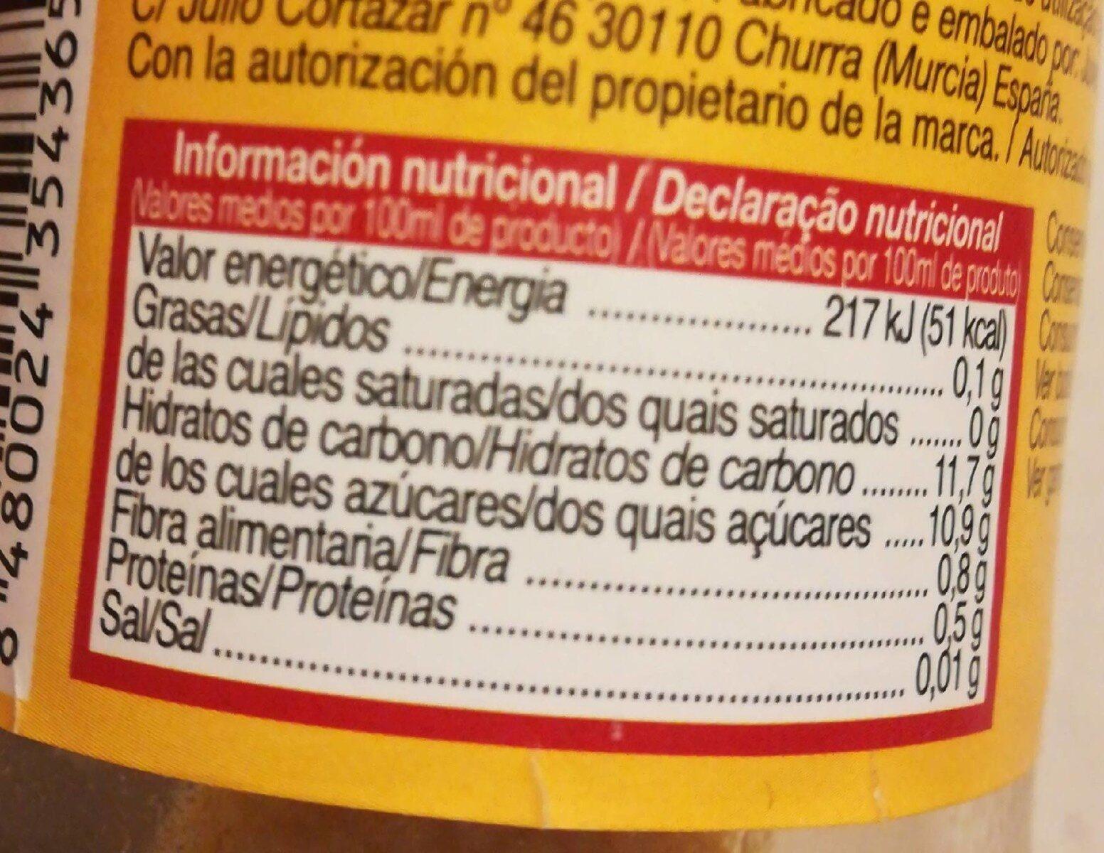 Nectar de melocoton - Nutrition facts