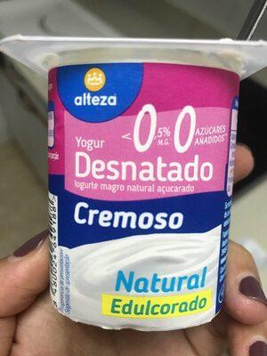 Yogur desnatado cremoso natural edulcorado - Product