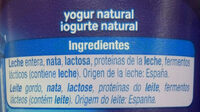 Yogur Griego Natural - Ingredients - es