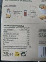 Humus de garbanzos - Información nutricional - es