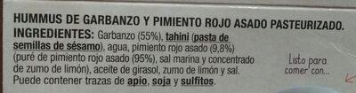 Hummus de garbanzos con pimiento - Ingredientes - es