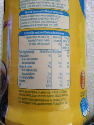 Cacao soluble - Informations nutritionnelles - es